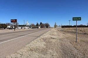 Idalia, Colorado - Idalia, looking east on U.S. 36.