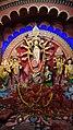 Idol of Goddess Durga being worshipped in a Panadal at Kolkata 27.jpg