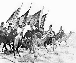 Unification of Saudi Arabia - Ikhwan Army in Ikhwan Revolt. Ikhwan strike Alliance British Empire, Kuwait and Ibn Saud.