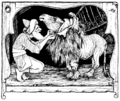 Illustration inset at page 150 of Indian Fairy Tales (1892).png