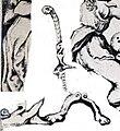 """Images047 desenho do primo de Dom Francisco Manuel de Melo para o frontispicio do seu livro """"Teodosio"""" 1649. códice Eborense1 trois têtes.jpg"""