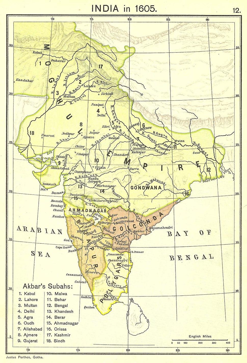 India in 1605