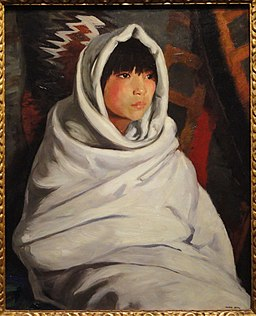 Indian Girl in White Blanket by Robert Henri, 1917 - Corcoran Gallery of Art - DSC01186