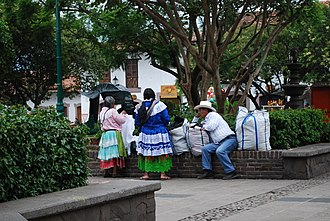 Mazahua people - Mazahua natives in Valle de Bravo, State of Mexico