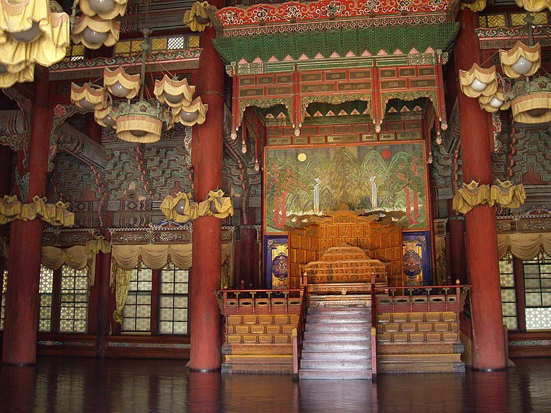 File:Injeongjeon (interior), Changdeokgung - Seoul, Korea.JPG