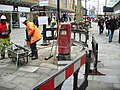 Installing a postbox, Canal Walk, Swindon (4 of 4) - geograph.org.uk - 1749764.jpg