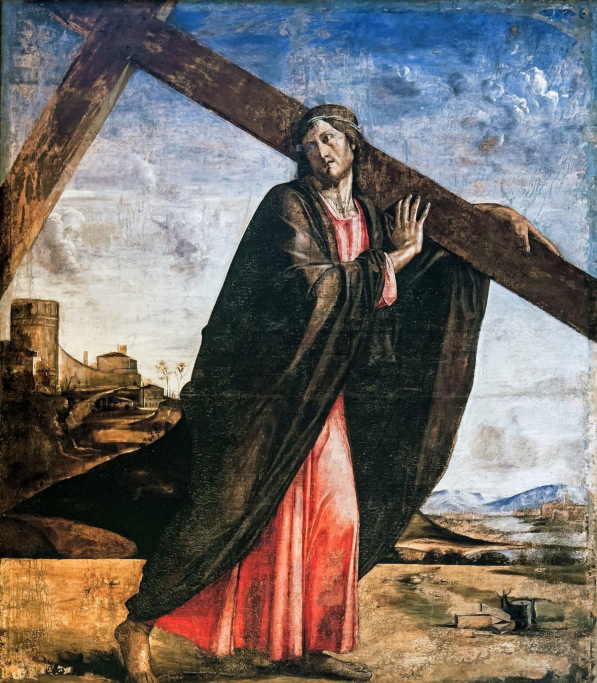 Interior of Santi Giovanni e Paolo (Venice) - Jesus Christ bearing the Cross.jpg