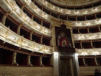 Teatro Regio (Parma) - Interior of the Teatro Regio, Parma, October 2013
