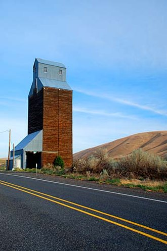 Morrow County, Oregon - A grain elevator just outside Ione