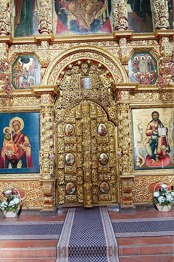 Ornate Holy Doors at Ipatiev Monastery, Kostro...