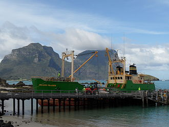 Lord Howe Island - Island Trader on a fortnightly delivery from Port Macquarie