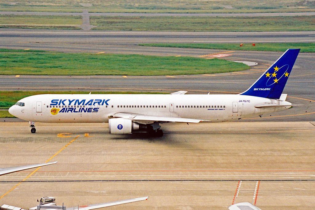 JA767C B767-3Q8ER Skymark Airlines HND 23MAY03 (8472312161)