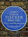 JAMES ELROY FLECKER 1884-1915 Poet and Dramatist was born here.jpg