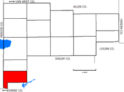 Location of Jackson Township in Auglaize County