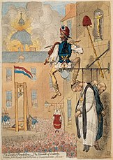 The Pinnacle of liberty, caricature by James Gillray on the reign of terror
