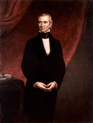 President Polk, 1858 portrait, by George Healy
