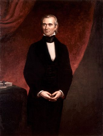 Polk's official White House portrait, by George Peter Alexander Healy, 1858 James Knox Polk by GPA Healy, 1858.jpg