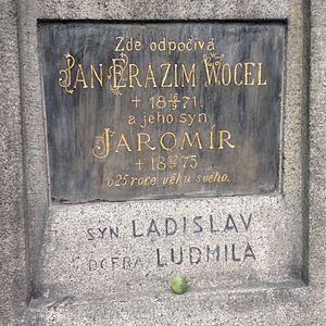 Jan Erazim Vocel - Image: Jan Erazim Vocel grave