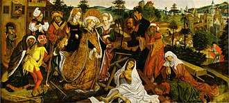 Jan Polack - Jan Polack The recognition of the True Cross (legend of St. Helena), panel, 46.5 × 101.6 cm, 1486. Huis Bergh collection