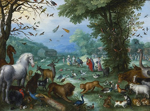 Jan il Vecchio Bruegel Landscape of Paradise and the Loading of the Animals in Noah