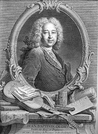 Jean-Baptiste Oudry - Jean-Baptiste Oudry, etching made by his wife, Marie–Marguerite Froissé, after a painting by Nicolas de Largillière.