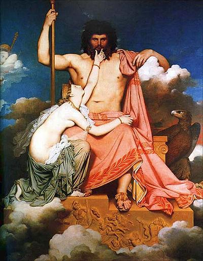 Zeus och havsnymfen Thetis