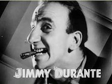 Jimmy Durante en a cinta Broadway to Hollywood (1933).