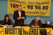 Joe Higgins, Clare Daly and John Campbell Boycott the Household Tax.jpg