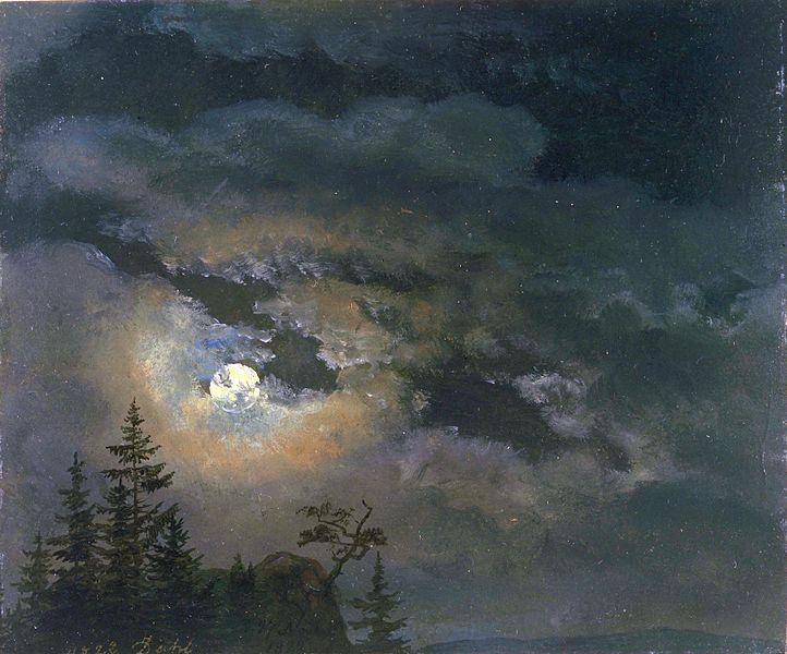 File:Johan Christian Claussen Dahl - En sky og landskap studie av måneskinn.jpg