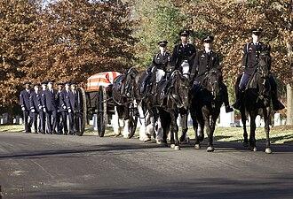 John Levitow - His burial at Arlington National Cemetery on November 17, 2000.