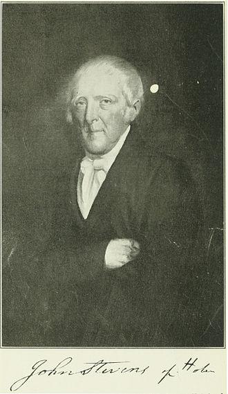 John Stevens (inventor, born 1749) - Image: John Stevens of Hoboken