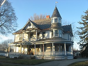 National Register of Historic Places listings in Henry County, Indiana - Image: John W. Hedrick House