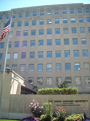 Paul H. Nitze School of Advanced International Studies - Campus building on Massachusetts Avenue, NW, Washington DC.