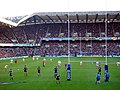Jonny Wilkinson ready to kick a successful penalty at the Scotland versus England Six Nations rugby 2008.jpg