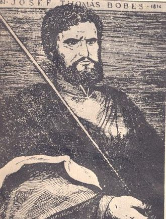 José Tomás Boves - 1782-Josef Thomás Bobes-1814. Early 19th-century depiction of Boves.