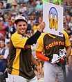 Jose Fernandez rolls out the Scream emoji during Giancarlo Stanton's -HRDerby performance. (27953882714).jpg