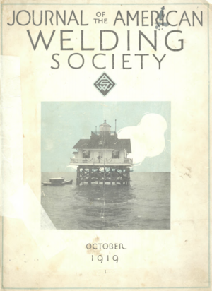 American Welding Society - The first and only issue of the Journal of the American Welding Society.