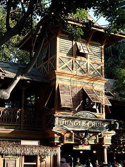Jungle Cruise Entrance Sunset.JPG