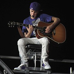 "Justin Bieber performing ""Favorite Girl"" in Zurich, Switzerland."