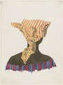 KITLV - 36B236 - Borret, Arnoldus - Woman with headscarf seen from behind - Water colour - Circa 1880.tif