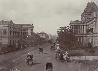 Hong Lim Park - Police Courts (right), known as the Criminal District and Magistrates' Courts at Hong Lim Green, Singapore, demolished in 1975