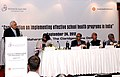 """Kapil Sibal addressing at the """"Consultation on implementing effective school health programs in India"""", in New Delhi. The Union Minister for Health and Family Welfare, Shri Ghulam Nabi Azad is also seen.jpg"""