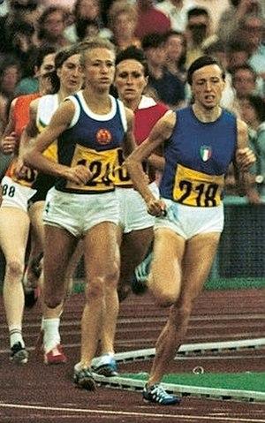 Tamara Pangelova - Pangelova (red shirt) at the 1972 Olympics