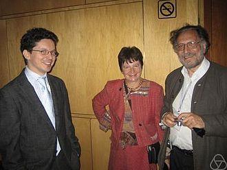 Max Karoubi - Max Karoubi (right) with Wendelin Werner (left)