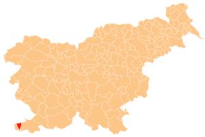 Izola - Image: Karte Izola si