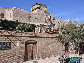 Kashgar - An old Kashgar city street.