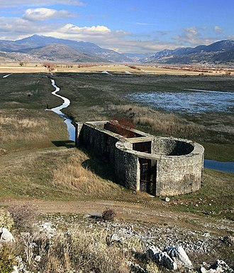 Pheneus - The katavóthra and so-called canal of Heracles at Pheneus