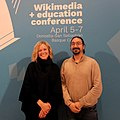 Katherine and Marios in Wikimedia in Education Conference 2019.jpg
