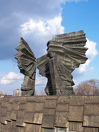 Silesian Uprisings - Silesian Insurgents Monument in Katowice. The largest and heaviest monument in Poland, constructed in 1967.
