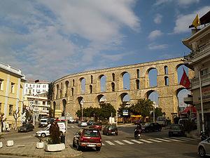 Kavala aqueduct - Kavala aqueduct near Nikotsara Square.